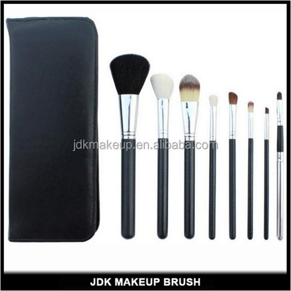 8 PCS Hot Sell Makeup Brush Set With Zipper Bag Private Label Makeup Brush Set