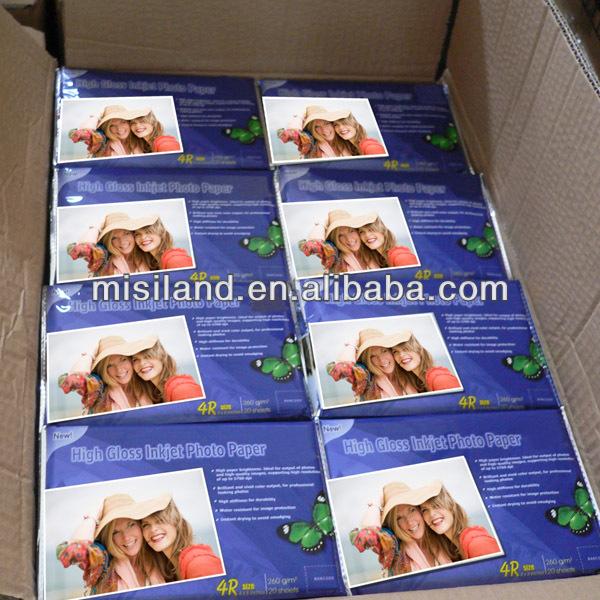 China Factory Supply waterproof High Glossy Cast Coated Inkjet Photo Paper (from 115gsm to 250gsm)