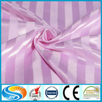 hotel bed sets 100% cotton satin strip fabric