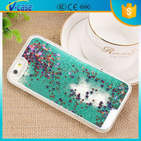 colorful liquid glitter star flowing phone case for iphone 6
