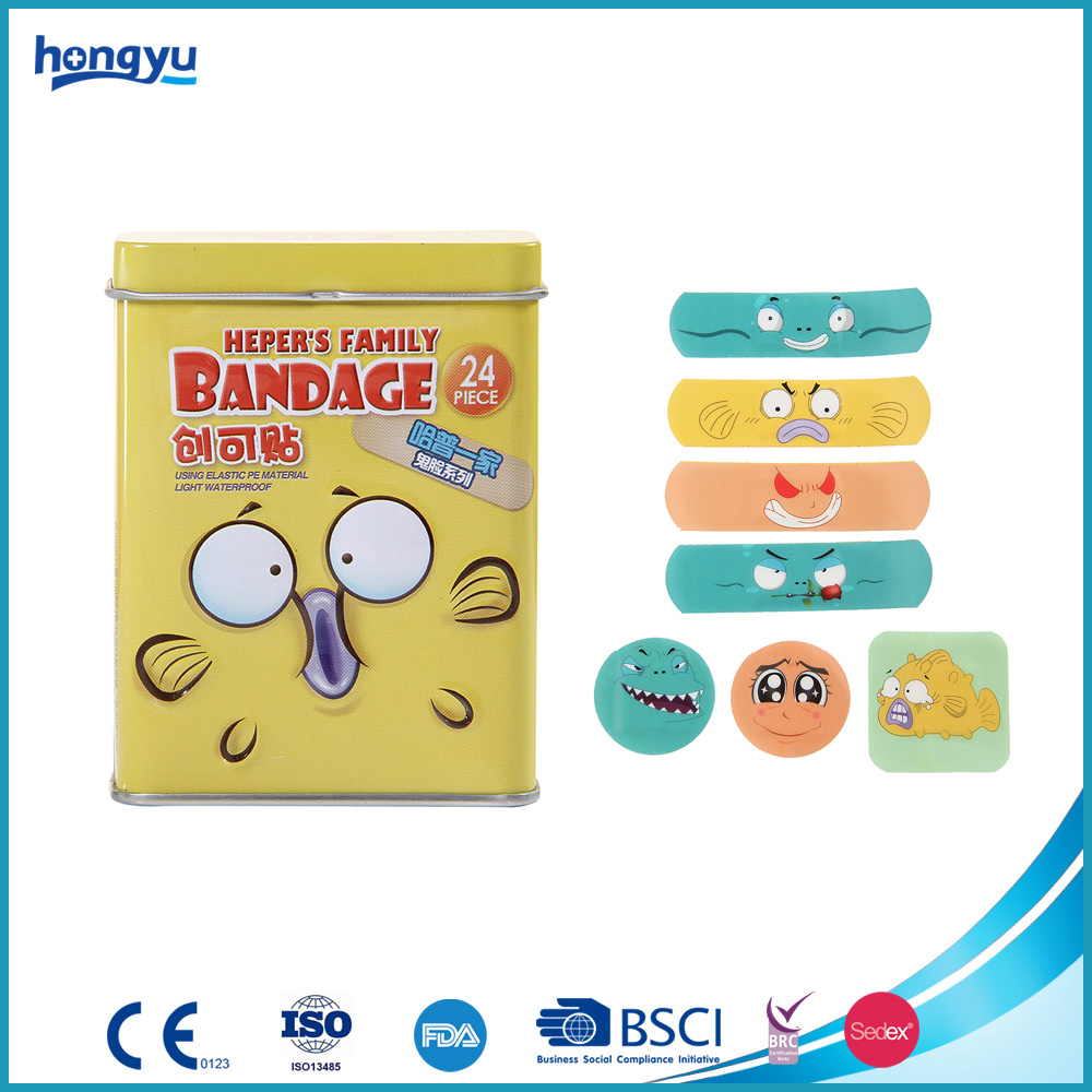 High Quality Colorful Tin Box Pack Cartoon Band Aid Plaster
