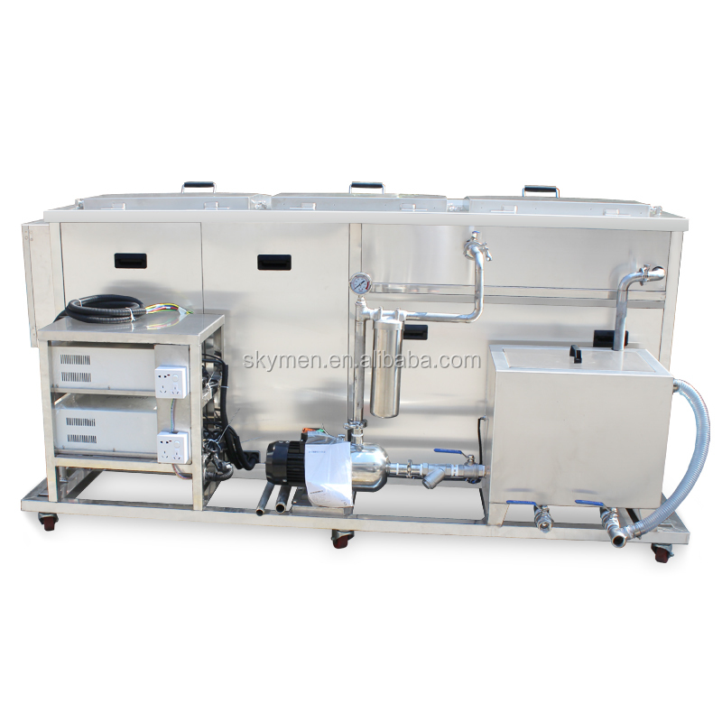 Industrial multi-tank auto parts engine block ultrasonic cleaning machine with rinsing tank and drying tank