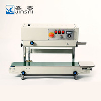 Best price vertical continuous band sealer packing machine, heat sealing machine