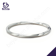 Cheap exquisite spiral sterling silver bangle bracelets wholesale