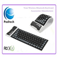 Bluetooth Silicone Rubber Folding Electronic Arabic Keyboard