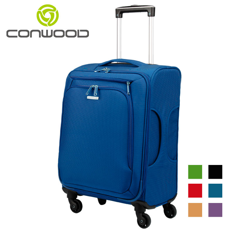 Conwood Light Weight Trolley Wheeled Luggage Bag