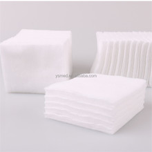 Manufacturer whosale 100% cotton square 5x5 cosmetic cotton pads