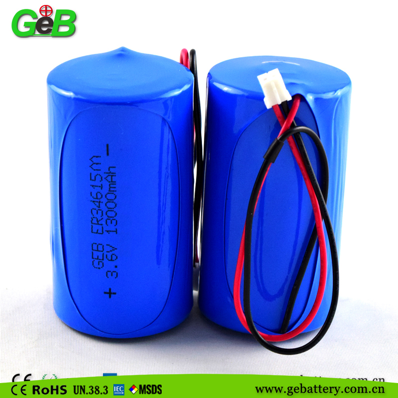 Dry battery Lisocl2 Lithium Battery AA er34615m battery 2700mah