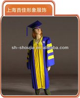 college doctoral PHD graduation academic gown made in China