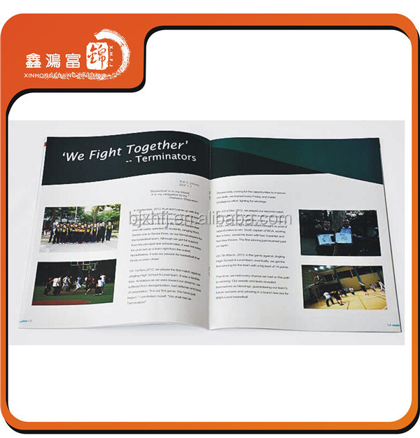 A4 A5 A6 Chinese factory 200g booklet printing publisher