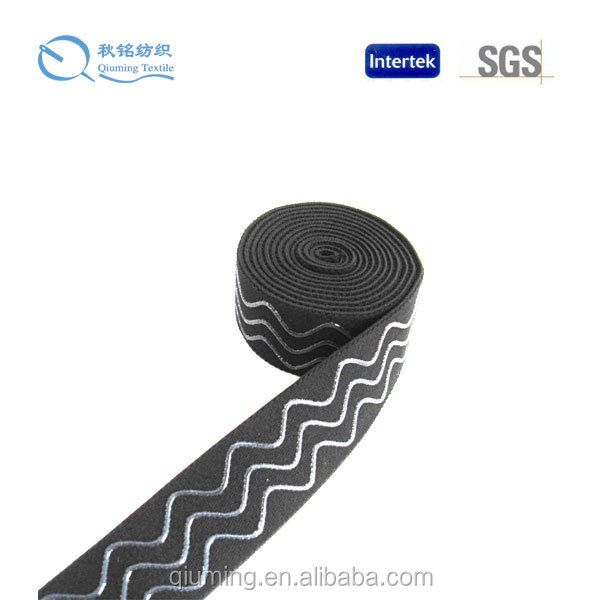 HIgh quality low shrinkage silicone gripper elastic