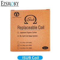 Original Innokin iSub Sub ohm Coil 0.5ohm Replacement Coil Head Japanese Organic Cotton Wicking For iSub Tank