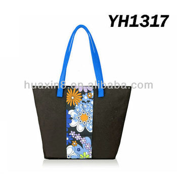 YH1317 Summer Flower 600D Tote Bag
