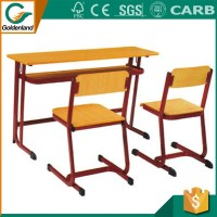 High quanlity University Desks and Chairs Fixed Student School Chair and Desk Set Classroom Furniture