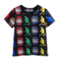 2016 Lastest Summer Fashion Children Tshirt With Cartoon Printed Boys Tshirt Kids Wear BT90307-1L