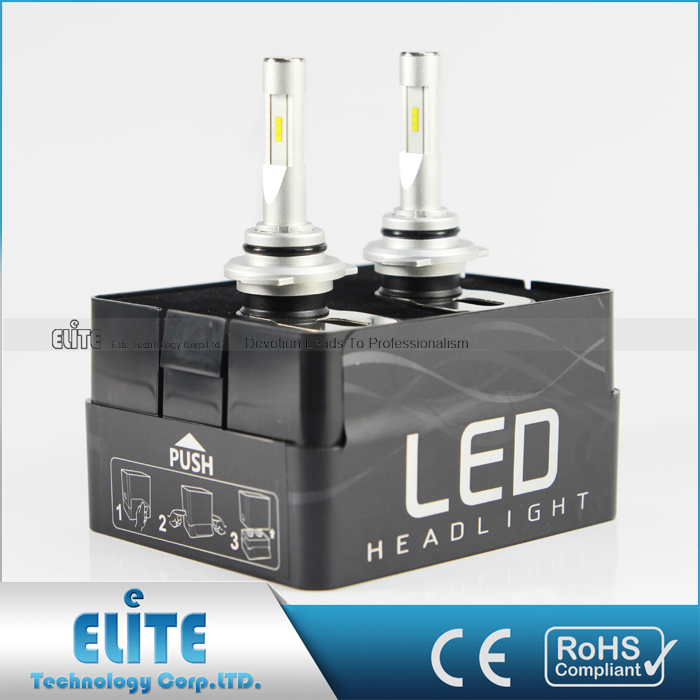 T5 car LED headlight bulb H7 H11 9005 9012 headlight bulb connector