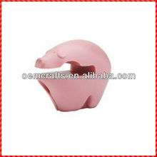 Pinky pig spoon stand for desk decor