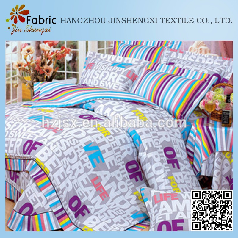 Top quality soft bed cover italian cotton fabric