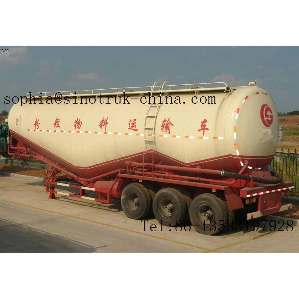 bulk cement transport truck semi trailer 50m3