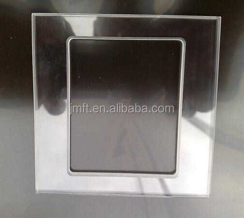 3mm thickness hollow glass plate for switch, tempered silkcreen printing glass panel
