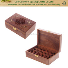 Holds 24 Bottles Wooden Essential Oil Boxes Essential Oil Packaging Boxes