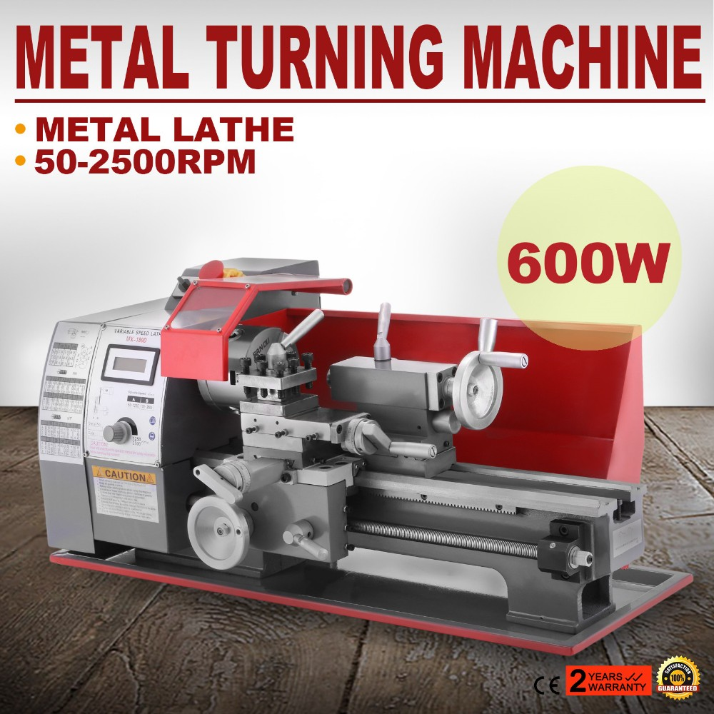 Variable Speed 600W Precision Metalworking Processing Mini Metal Lathe ON SALE