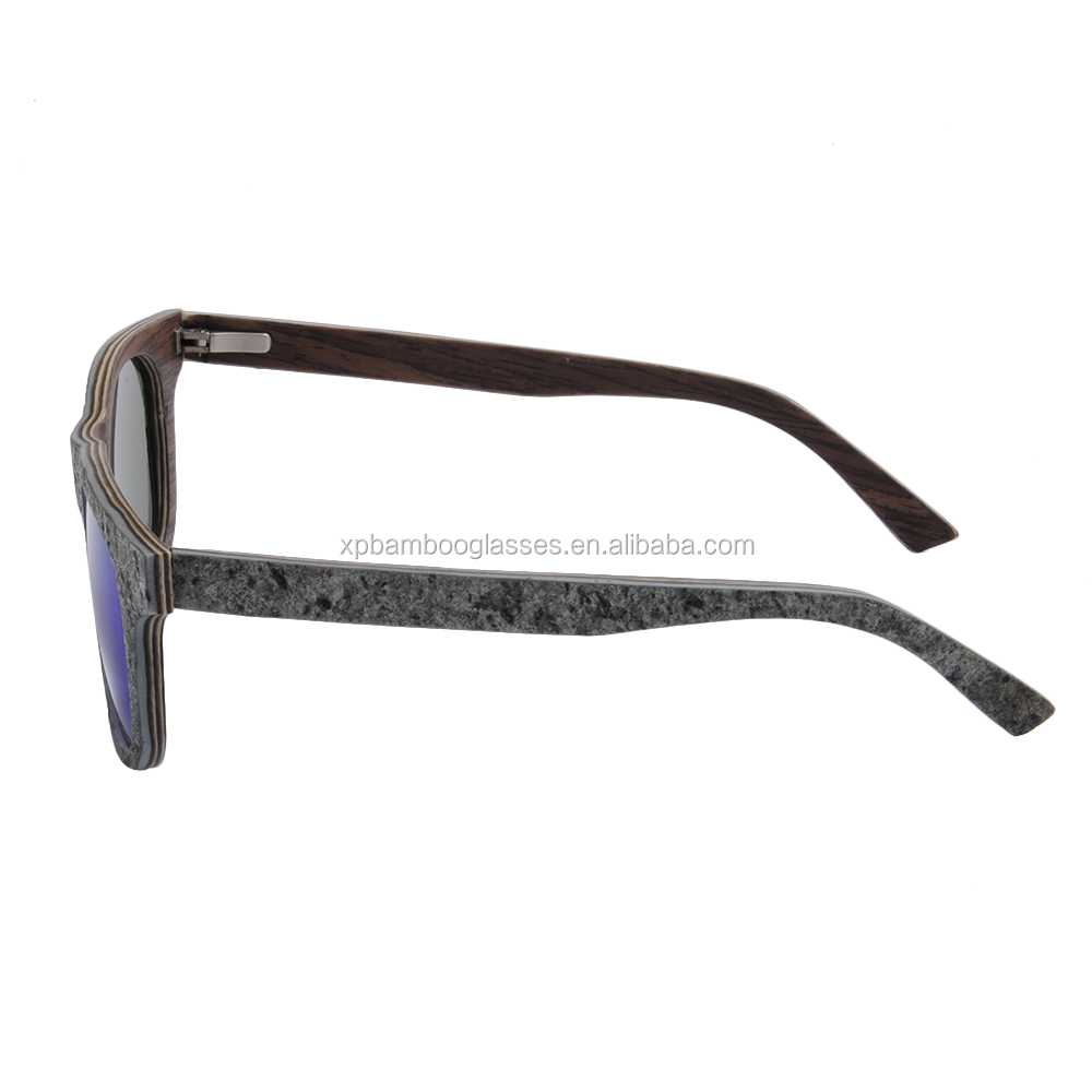 new arrival custom hand polished real stone wood sun glasses sunglasses