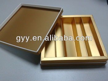 Golden color chocolate packaging 2 pieces boxes 2014