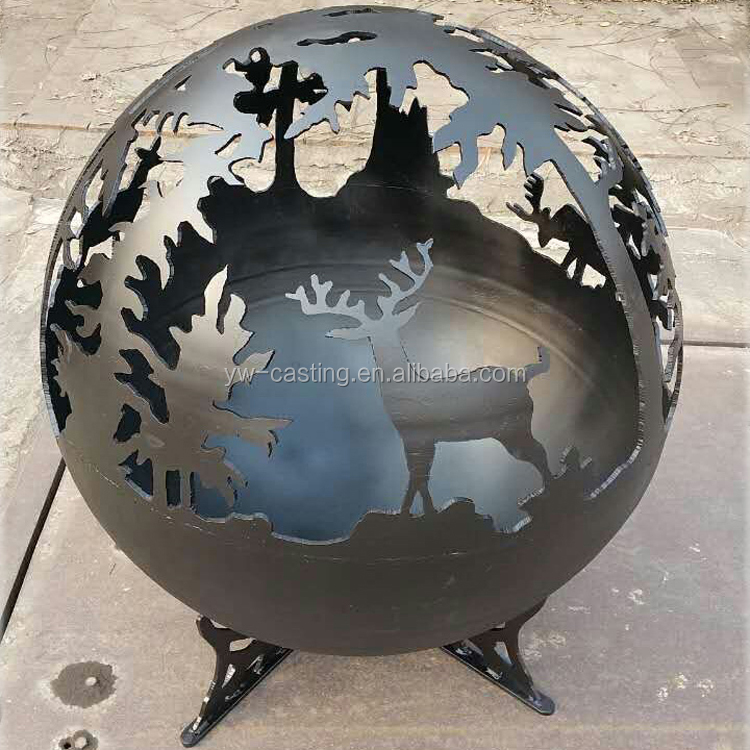 Professional Factory OEM Steel Sphere Outdoor Fireplace