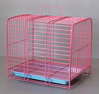 Pet Puppy Carrier Dog Cage Home Crate Kennel Cat Metal Folding Portable Tray 604