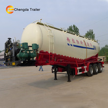 tri axles 60ton flyash bulk feed bulker cement cargo carrier tanker vehicle for sale