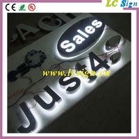 High brightness illuminated lighted metal stainless steel LED alphabet letters