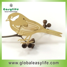 Gold printing souvenir bird metal bookmark