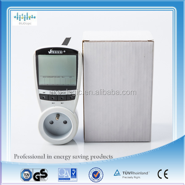 2014 Single phase power meter& wireless smart energy meter LCD monitor display power factor