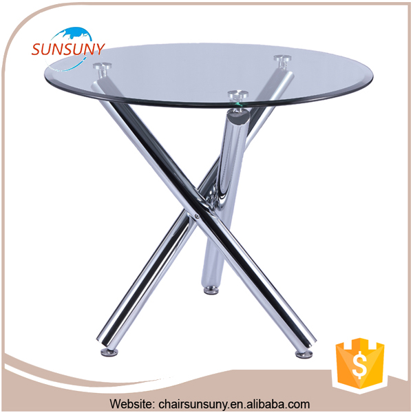 China high quality fashional wholesale modern dining glass table