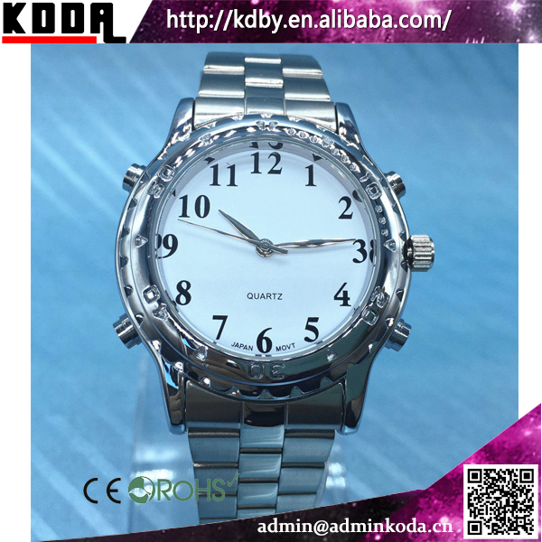 Alloy Waterproof Talking Watch For Blind People