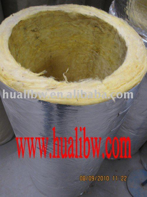 Fiber glass wool pipe, glass wool tube with alu.foil cover