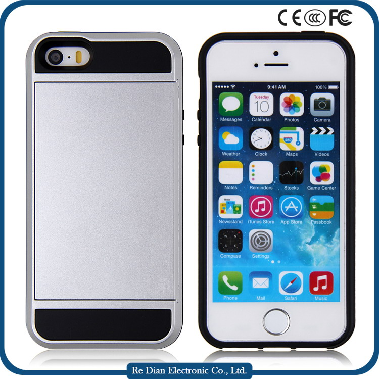 Alibaba Factory Price Protective Insert Cards Cell Phone Case for Iphone5s