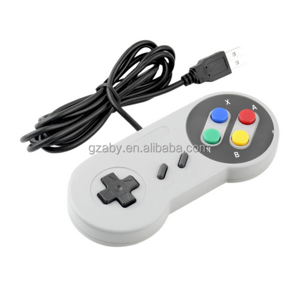New Classic color Button Controller for Super Nintendo for SNES For PC /USB