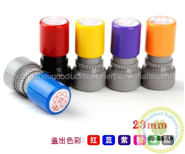 Hot selling collection inked funny teacher stamps/Alibaba best seller supply kids rubber teacher stamp