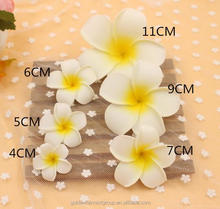 Wholesale Artificial foam Plumeria flower size from 4cm to 11cm