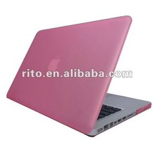 Factory Price,Pink Rubberized crystal cover case for new Macbook Pro 15 15.4 inch with Retina Screen Display,OEM Welcome
