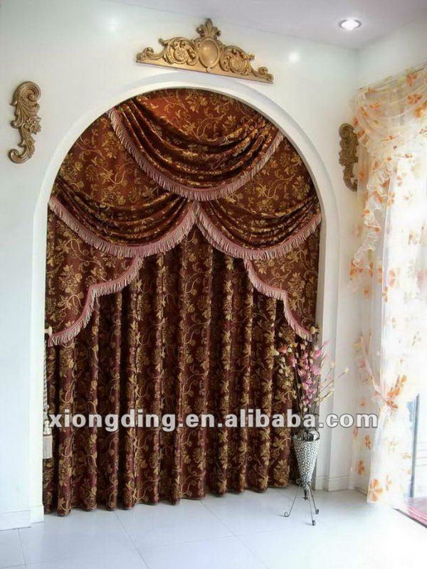 2012 new design Shining poly Curtain