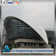 Architectural design long span steel structure prefabricated stadium