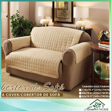 Quilted microfiber water-repellent sofa cover