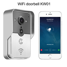 H.264 720P WiFi Video Door Phone,2.4G Doorbell WiFi, Support Wireless Unlock iOS Android APP