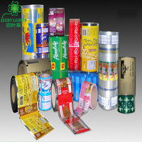 OEM food grade laminated multilayer colorized printing bopp flexible packaging roll film Custom metalized Plastic film
