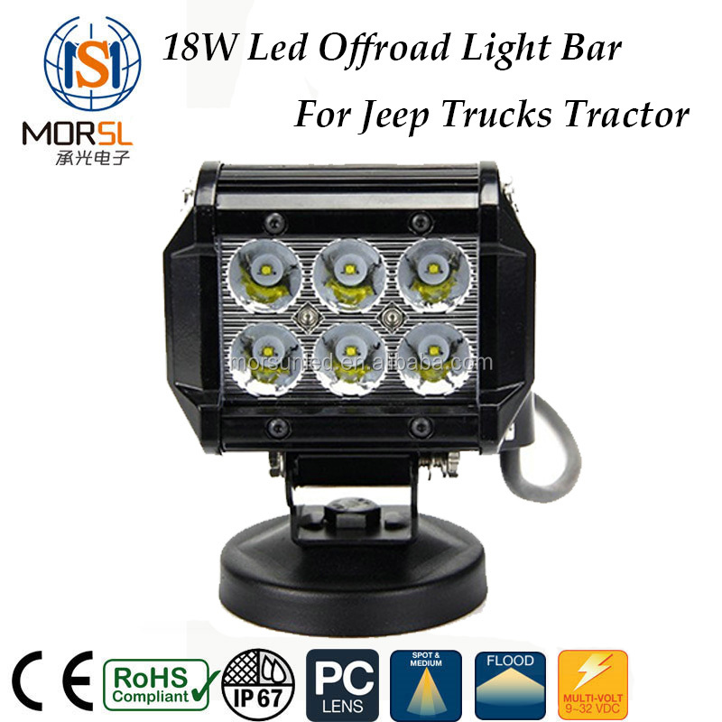 "Car led lamp, 4"" 18w Flood/Spot beam 4x4 led light bar for 4x4 offroad tractors"