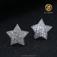 Unique pentagram stud beautiful earring designs for women