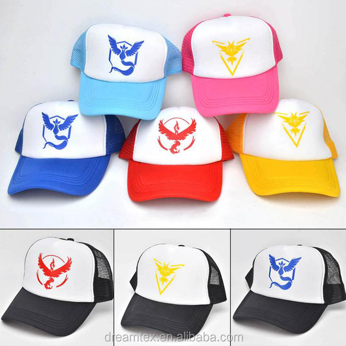 100% Cotton 6 panel Custom snapback <strong>flat</strong> cap pokemon hat